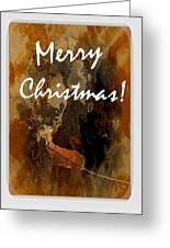 Merry Christmas Reindeer 2 Greeting Card
