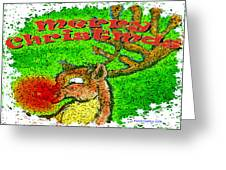 Merry Christmas Reindeer Greeting Card