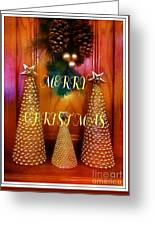 Merry Christmas Trees Colorful Greeting Card