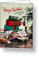 Merry Christmas Vintage Cigarette Advert Greeting Card