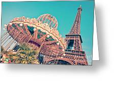 Merry Go Paris Greeting Card by Delphimages Photo Creations