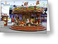 Merry-go-round At The Prater Greeting Card