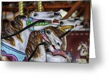 Merry Go Round Horses Greeting Card