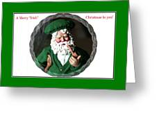 Merry Irish Santa Greeting Card
