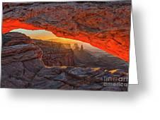 Mesa Arch Sunrises Glow Greeting Card