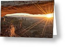 Mesa Arch Sunrise 4 - Canyonlands National Park - Moab Utah Greeting Card