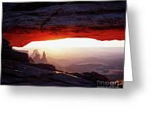 Mesa Arch Sunrise 4 Greeting Card