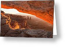 Mesa Arch Sunrise 5 - Canyonlands National Park - Moab Utah Greeting Card