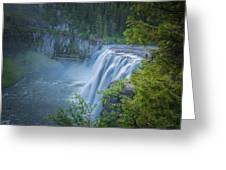 Mesa Falls - Yellowstone Greeting Card