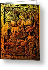 Mesoamerican  Mayan Figure Eight Century Mexico Greeting Card