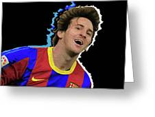 Messi 3498 By Nicholas Nixo Efthimiou Greeting Card