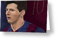 Messi-digital Oil Painting  Greeting Card
