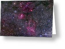 Messier 52 And The Bubble Nebula Greeting Card