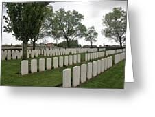 Messines Ridge British Cemetery Greeting Card