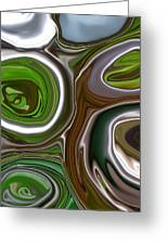 Metal Abstract Greeting Card by Linnea Tober