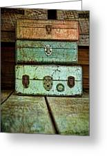 Metal Boxes Greeting Card