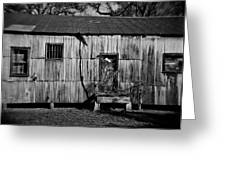 Metal Building On The Grounds At Fort Delaware Near Delaware City Greeting Card