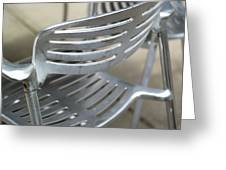 Metal Chair Greeting Card