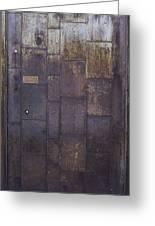 Metal Door Greeting Card