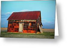 Metal House Greeting Card
