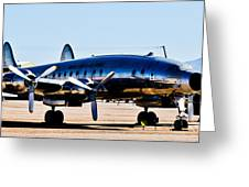 Metal Plane Greeting Card