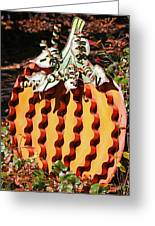 Metal Pumpkin Greeting Card
