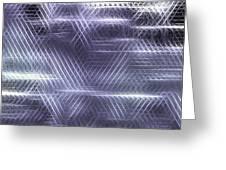 Metallic Cross Pattern  Greeting Card