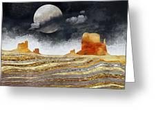 Metallic Desert Greeting Card