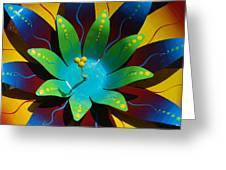 Metallic Flora Greeting Card