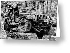 Metallic Jeep Jku Wrangler Greeting Card