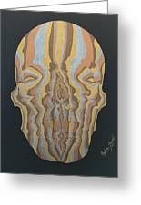 Metallic Skull Greeting Card