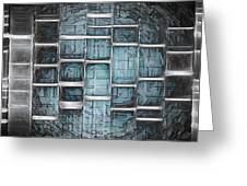 Metallic Topaz Dna Art Greeting Card