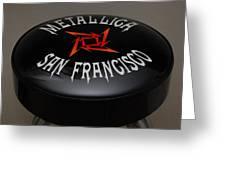 Metallica Bar Stool Greeting Card