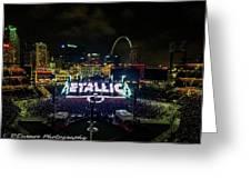 Metallica In Stl Greeting Card