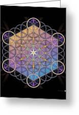 Metatrons Cube Greeting Card