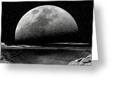 Meteor Crater Moon Greeting Card