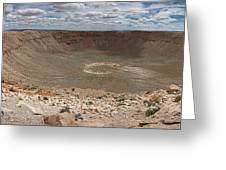 Meteor Crater Greeting Card by Ryan Heffron
