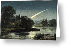 Meteor In Night Sky, 1868 Greeting Card