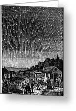 Meteor Shower, 1833 Greeting Card