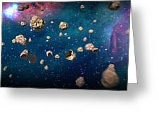 Meteor Storm Greeting Card