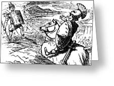 Metius Aggravating Titus Manlius Greeting Card