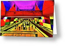 Metro 4, Budapest, Hungary, Poster Effect 1b Greeting Card