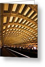 Metro Station Greeting Card