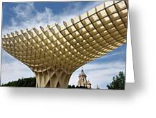 Metropol Parasol At The Plaza Of The Incarnation In Seville Spai Greeting Card