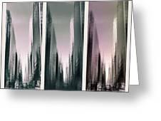Metropolis Rush Hour Triptych Greeting Card