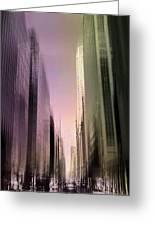 Metropolis Sunset Greeting Card