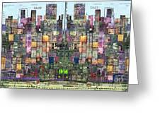 Metropolis Vi Greeting Card