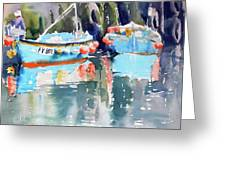 Mevagissey Harbour Greeting Card