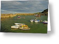 Mevagissey Outer Harbour Greeting Card
