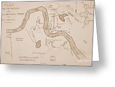 Mexicanamerican War Map Of Us Troops Near Rio Grande And Matamoros